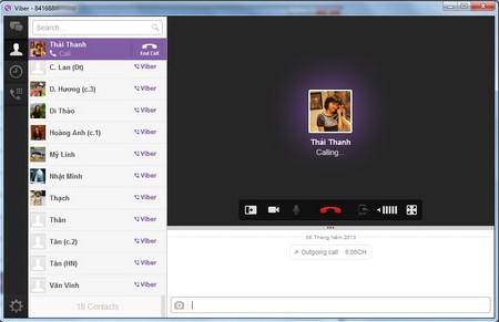 Viber gọi điện, nhắn tin miễn phí từ máy tính