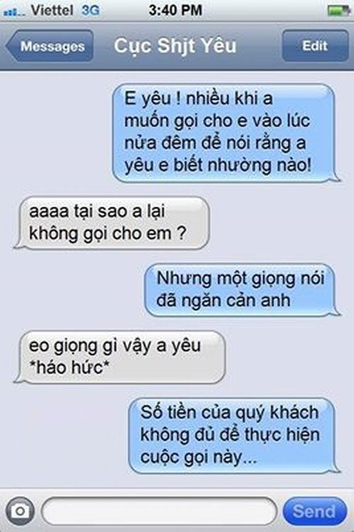 Cười bể bụng với tin nhắn chế hài hước (P7)