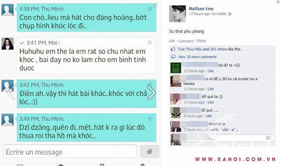 Lộ tin nhắn 'sự thật phũ phàng' của Nathan Lee và Thu Minh