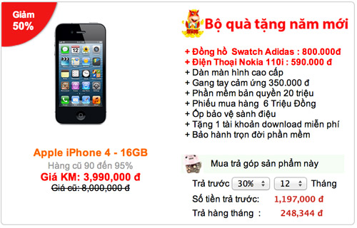 DVS DIGITAL giảm giá iPhone 50%