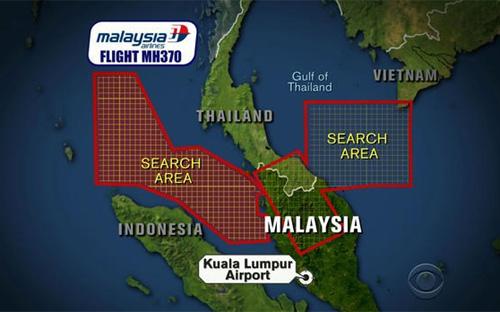 VỤ MÁY BAY MALAYSIA MẤT TÍCH: Xác nhận tín hiệu gần eo biển Malacca