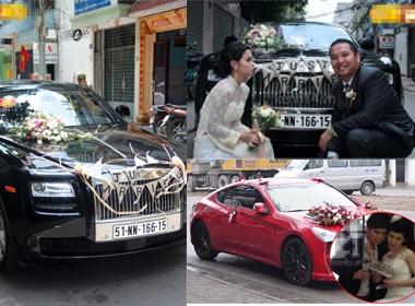 Chiêm ngưỡng xe đón dâu 'siêu khủng' của sao Việt