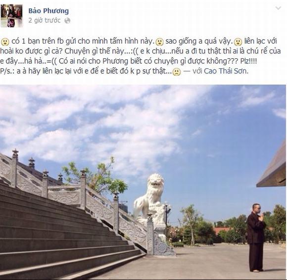 Cao Thai Son, Cao Thai Son di tu, Cao Thai Son xuat gia, Cao Thai Son quy y, Cao Thai Son quy y cua phat