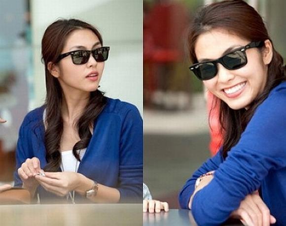 Sành điệu với bộ kính mắt hàng hiệu như Hà Tăng