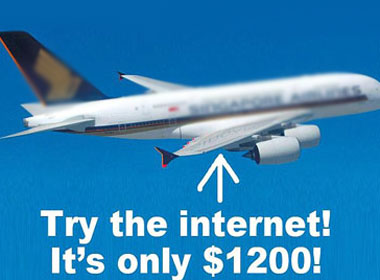 Dùng wifi trên máy bay phải trả 25 triệu