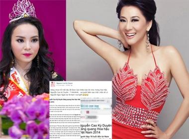 MC Kỳ Duyên ngỡ ngàng vì bị gọi tên khắp nơi, Tân Hoa hậu đóng Facebook