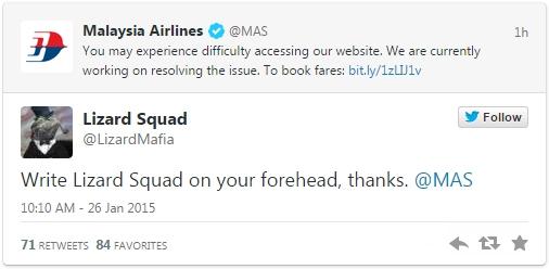 Nhóm hacker liên quan đến IS đánh sập trang web của Malaysia Airlines 2
