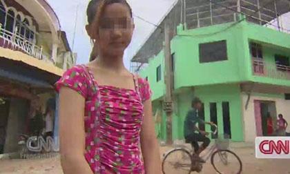 Tâm sự của bé gái Campuchia bị mẹ bán trinh, bắt làm gái