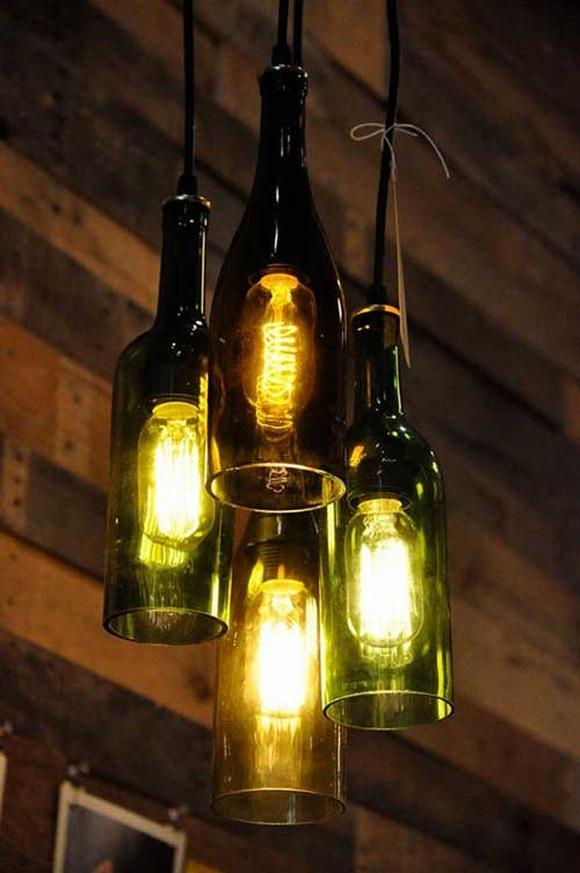 Trang trí nhà với đèn tự làm từ vật tái chế 7