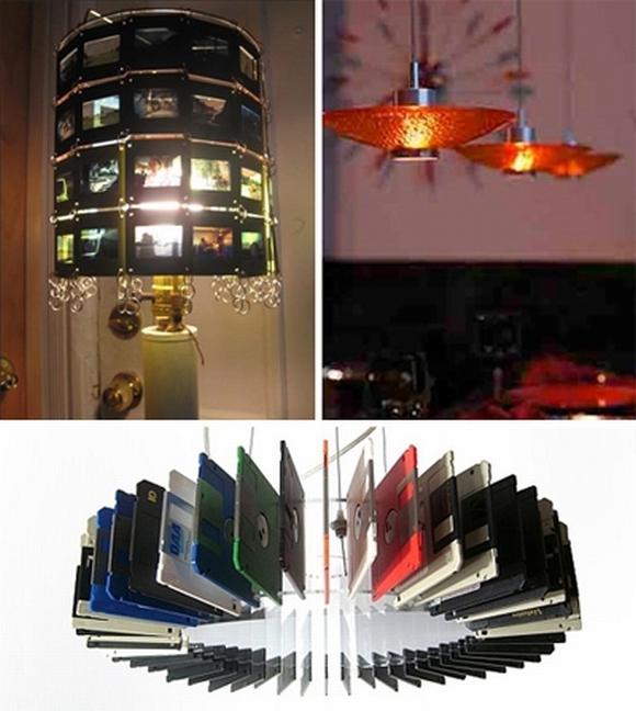 Trang trí nhà với đèn tự làm từ vật tái chế 5