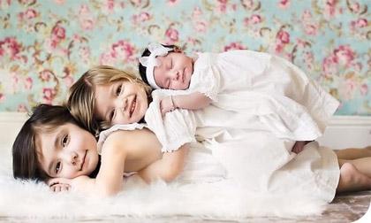 Những bức ảnh làm trái tim 'tan chảy' chỉ có ở các gia đình đông con