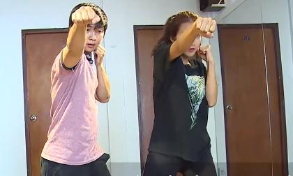 Hot girl Khả Ngân luyện võ rèn sức khỏe và phòng vệ