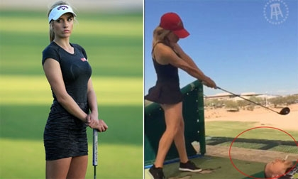 Golf thủ xinh nhất thế giới & trò 'đánh hụt là chết'
