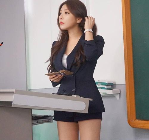 Ngẩn ngơ vẻ đẹp của nữ giảng viên