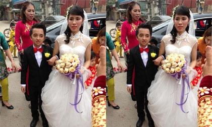 Đám cưới của cặp đôi đũa lệch 'Dũng khổng lồ' và 'Bảo Bảo tí hon' gây sốt mạng