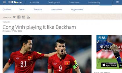 Công Vinh được FIFA ví như Beckham phiên bản Việt Nam