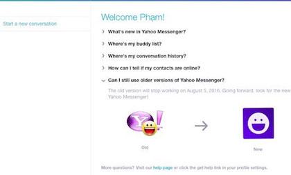 Yahoo Messenger trình làng ứng dụng chat mới cho máy tính