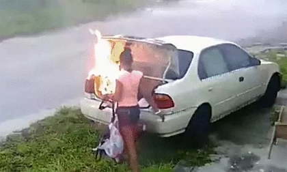 Cô gái trả thù người yêu cũ bằng cách đốt xe ô tô và cái kết cười ra nước mắt
