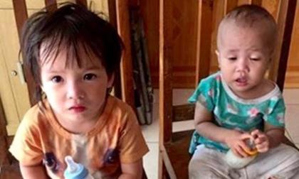 Hai cháu nhỏ bị bỏ lại trước cổng Công an TP Hải Phòng