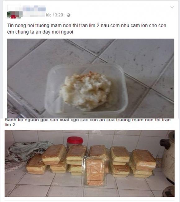 học sinh mầm non ăn cơm sống