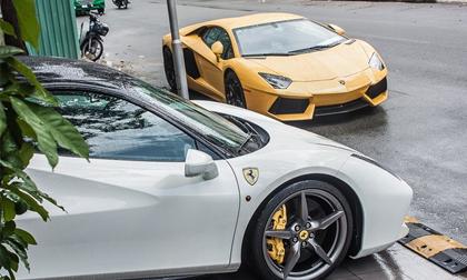 Siêu xe của Cường Đô La tụ họp bộ đôi Lamborghini Aventador