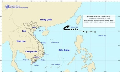 Thời tiết mới nhất hôm nay 11/10: Áp thấp nhiệt đới trên Biển Đông