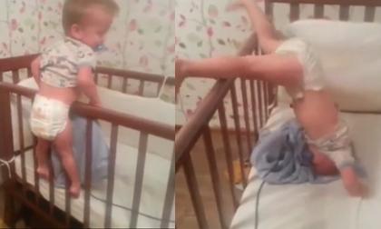 Cách 'vượt ngục' cực thông minh của em bé