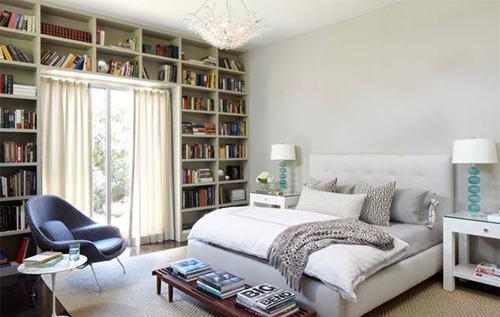 Những thiết kế tủ sách tuyệt đẹp trong phòng ngủ