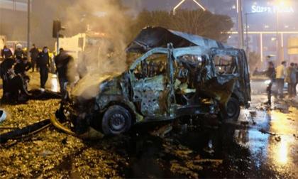 Hiện trường vụ đánh bom đẫm máu tại Istanbul, gần 200 người thương vong