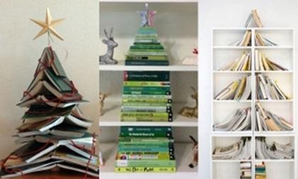 Gợi ý trang trí nhà mùa Giáng sinh bằng sách