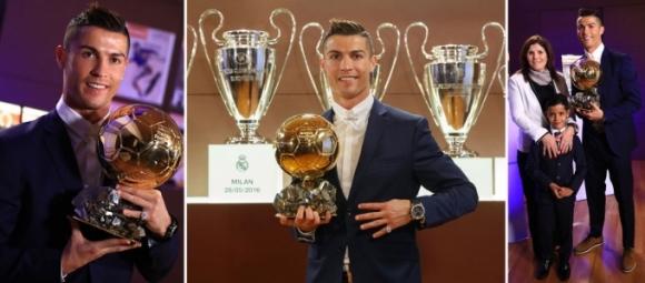 Quả bóng vàng 2016 đã xướng tên Cristiano Ronaldo.