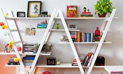 Trang trí nhà bằng giá sách với những ý tưởng tuyệt vời
