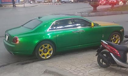 Choáng trước siêu xe Ghost 21 tỷ đồng màu xanh lá của đại gia Ninh Bình