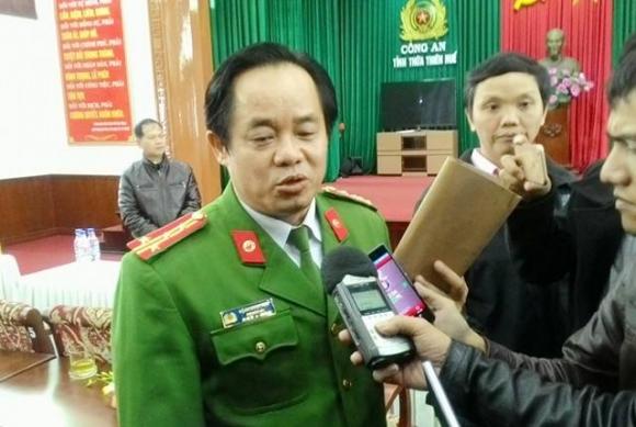 Đại tá Đặng Ngọc Sơn, Phó Giám đốc Công an tỉnh Thừa Thiên-Huế, trưởng ban chuyên án.