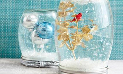 Cách làm quả cầu tuyết Noel đơn giản