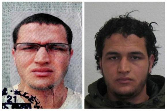 Cảnh sát Đức công bố chân dung nghi phạm Anis Amri. (Ảnh: Reuters)
