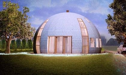 Thiết kế nhà mái vòm tinh tế và mới lạ