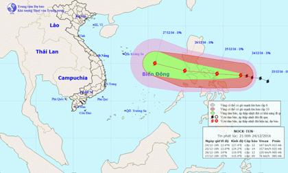 Dự báo thời tiết ngày 25/12: Bắc Bộ rét đậm, bão Nock-ten tiến gần Biển Đông