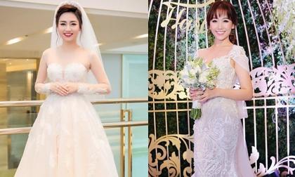 Điểm lại những bộ váy cưới lộng lẫy nhất của sao Việt năm 2016