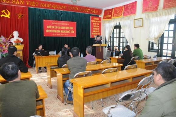 Viện kiểm sát nhân dân TP Bắc Kạn đã tổ chức xin lỗi công khai ông Hoàng Quyết Tiến