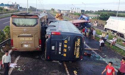 Tai nạn trên cao tốc Long Thành, 10 người nhập viện