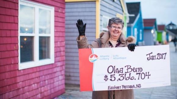 Bà Olga Beno. (Ảnh: Atlantic Lottery)