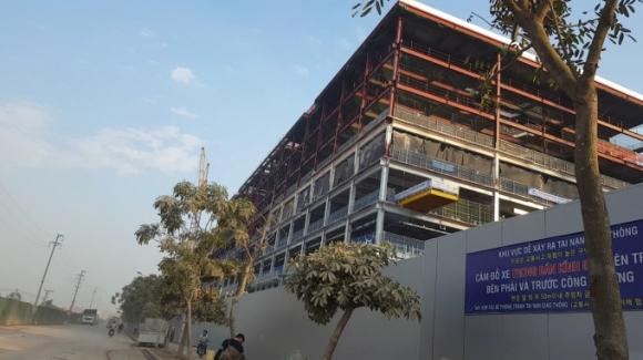 Công trường nhà máy Samsung V3 nơi xảy ra tai nạn.