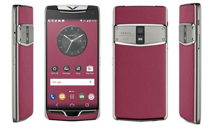 Smartphone Vertu siêu sang làm từ kính sapphire, da cao cấp, đá ruby