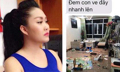 Phi Thanh Vân tung ảnh, tin nhắn chồng đập phá, đe dọa đốt nhà