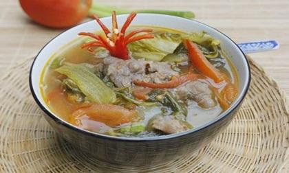 Cách nấu canh dưa cải thịt bò chua ngon nóng hổi