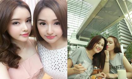 Tạo dáng nhí nhảnh, chị em Mai Phương Thúy bị nhận nhầm là học sinh cấp 3