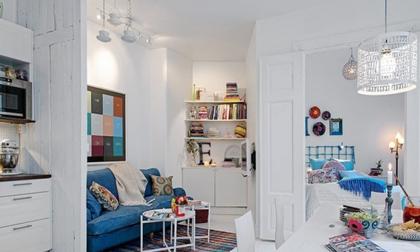 Căn hộ 30m2 đẹp trẻ trung hiện đại nhờ khéo cải tạo chung cư 80 năm tuổi