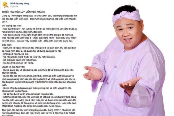 Minh Beo bi phan doi khi tuyen sinh dao tao dien vien hinh anh 1