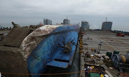 Cận cảnh phà Sewol sau 3 năm chìm sâu ở đáy biển